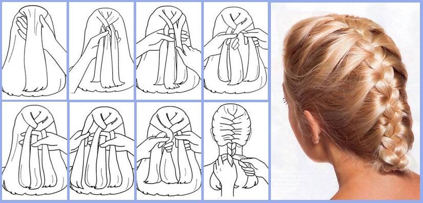 Коса колосок техника плетения